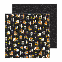 Pebbles - Spooky Boo Collection - Halloween - 12 x 12 Double Sided Paper - Trick Or Treat