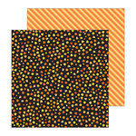 Pebbles - Spooky Boo Collection - Halloween - 12 x 12 Double Sided Paper - Sweet Tooth