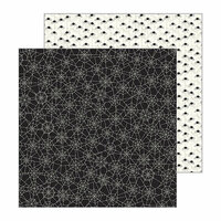 Pebbles - Spooky Boo Collection - Halloween - 12 x 12 Double Sided Paper - Eek