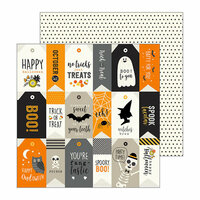 Pebbles - Spooky Boo Collection - Halloween - 12 x 12 Double Sided Paper - Let's Party