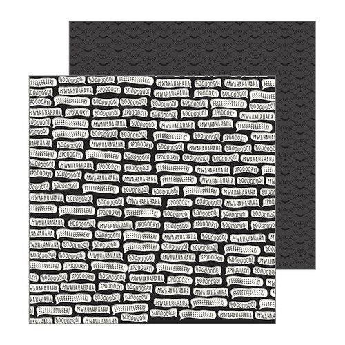 Pebbles - Spooky Boo Collection - Halloween - 12 x 12 Double Sided Paper - Spooky