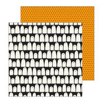Pebbles - Spooky Boo Collection - Halloween - 12 x 12 Double Sided Paper - Boo