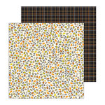 Pebbles - Spooky Boo Collection - Halloween - 12 x 12 Double Sided Paper - Falling Leaves