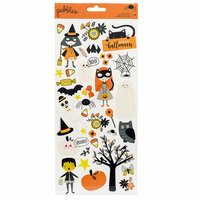 Pebbles - Spooky Boo Collection - Halloween - Cardstock Stickers with Glitter Accents
