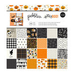 Pebbles - Spooky Boo Collection - Halloween - 12 x 12 Paper Pad with Glitter Accents