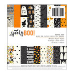 Pebbles - Spooky Boo Collection - Halloween - 6 x 6 Paper Pad with Glitter Accents