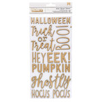 Pebbles - Spooky Boo Collection - Halloween - Thickers - Foam - Foil - Phrase - Gold