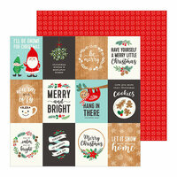 Pebbles - Cozy and Bright Collection - Christmas - 12 x 12 Double Sided Paper - Merry Little Christmas