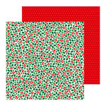 Pebbles - Cozy and Bright Collection - Christmas - 12 x 12 Double Sided Paper - Holly Jolly