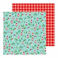 Pebbles - Cozy and Bright Collection - Christmas - 12 x 12 Double Sided Paper - Santa Land