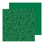 Pebbles - Cozy and Bright Collection - Christmas - 12 x 12 Double Sided Paper - Winter Green