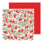 Pebbles - Cozy and Bright Collection - Christmas - 12 x 12 Double Sided Paper - Jingle All The Way