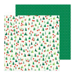 Pebbles - Cozy and Bright Collection - Christmas - 12 x 12 Double Sided Paper - Home For Christmas