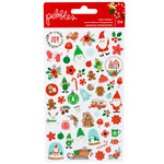 Pebbles - Cozy and Bright Collection - Christmas - Clear Stickers - Mini