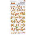 Pebbles - Cozy and Bright Collection - Christmas - Thickers - Printed Chipboard - Words