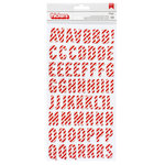 Pebbles - Cozy and Bright Collection - Christmas - Thickers - Printed Chipboard - Alphabet