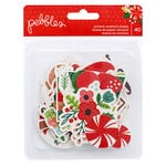 Pebbles - Cozy and Bright Collection - Christmas - Ephemera with Glitter Accents - Icons