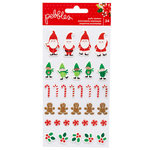 Pebbles - Cozy and Bright Collection - Christmas - Puffy Stickers