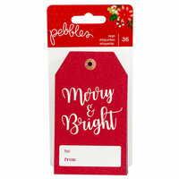 Pebbles - Cozy and Bright Collection - Christmas - Tag Pad