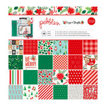 Pebbles - Cozy and Bright Collection - Christmas - 12 x 12 Paper Pad with Glitter Accents