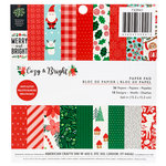Pebbles - Cozy and Bright Collection - Christmas - 6 x 6 Paper Pad with Glitter Accents