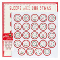 Pebbles - Cozy and Bright Collection - Christmas - 12 x 12 Paper and Cardstock Stickers with Glitter Accents - Advent Calendar