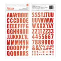 Pebbles - Loves Me Collection - Thickers - Foam - Alpha - Red Foil