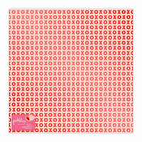 Pebbles - Loves Me Collection - 12 x 12 Paper with Foil Accents