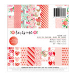 Pebbles - Loves Me Collection - 6 x 6 Paper Pad with Foil Accents