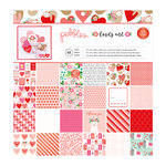 Pebbles - Loves Me Collection - 12 x 12 Paper Pad with Foil Accents