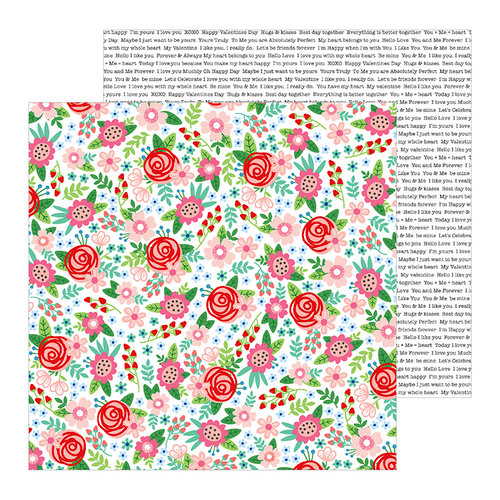 Pebbles - Loves Me Collection - 12 x 12 Double Sided Paper - Bouquet of Love