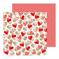 Pebbles - Loves Me Collection - 12 x 12 Double Sided Paper - Huggably Yours