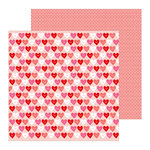 Pebbles - Loves Me Collection - 12 x 12 Double Sided Paper - Love Talk