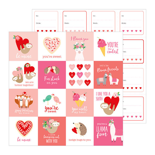 Pebbles - Loves Me Collection - 12 x 12 Double Sided Paper - Be Mine