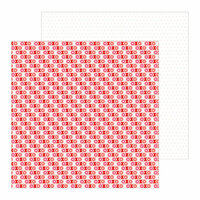 Pebbles - Loves Me Collection - 12 x 12 Double Sided Paper - XOXO