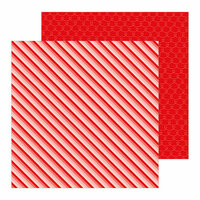 Pebbles - Loves Me Collection - 12 x 12 Double Sided Paper - Ombre Stripes