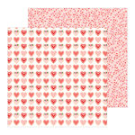 Pebbles - Loves Me Collection - 12 x 12 Double Sided Paper - Sweet Love