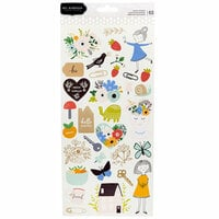 Pebbles - Along The Way Collection - Cardstock Stickers with Foil Accents