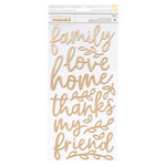 Pebbles - Along The Way Collection - Thickers - Foam - Phrase - Gold Foil