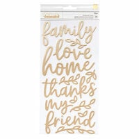 Jen Hadfield - Along The Way Collection - Thickers - Foam - Phrase - Gold Foil