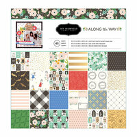 Pebbles - Along The Way Collection - 12 x 12 Paper Pad with Foil Accents