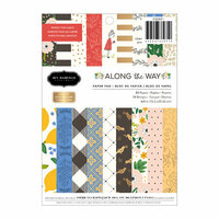 Pebbles - Along The Way Collection - 6 x 8 Paper Pad with Foil Accents