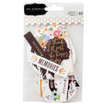 Pebbles - Along The Way Collection - Ephemera with Foil Accents - Phrase
