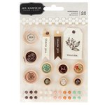 Pebbles - Along The Way Collection - Epoxy and Wood Stickers