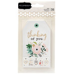 Pebbles - Along The Way Collection - Tag Pad with Foil Accents