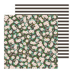 Pebbles - Along The Way Collection - 12 x 12 Double Sided Paper - Blooms