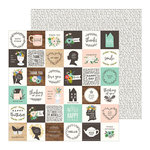 Pebbles - Along The Way Collection - 12 x 12 Double Sided Paper - Sweet Sentiments