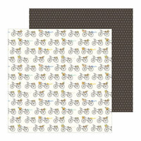 Pebbles - Along The Way Collection - 12 x 12 Double Sided Paper - Ride With Me