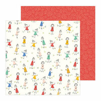 Pebbles - Along The Way Collection - 12 x 12 Double Sided Paper - Frolicking