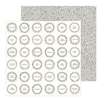 Pebbles - Along The Way Collection - 12 x 12 Double Sided Paper - Home